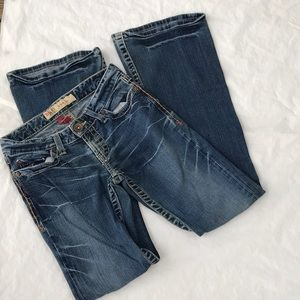 Buckle BKE denim star flare jeans size 25